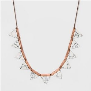 UNIVERSAL THREAD White Marble Triangle Necklace